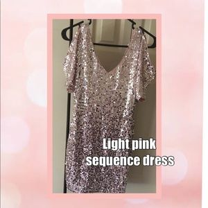 Light pink sequenced mini dress brand new (PROM)